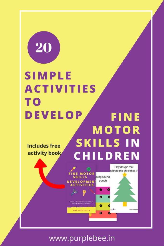Simple activities to develop fine motor skills in children