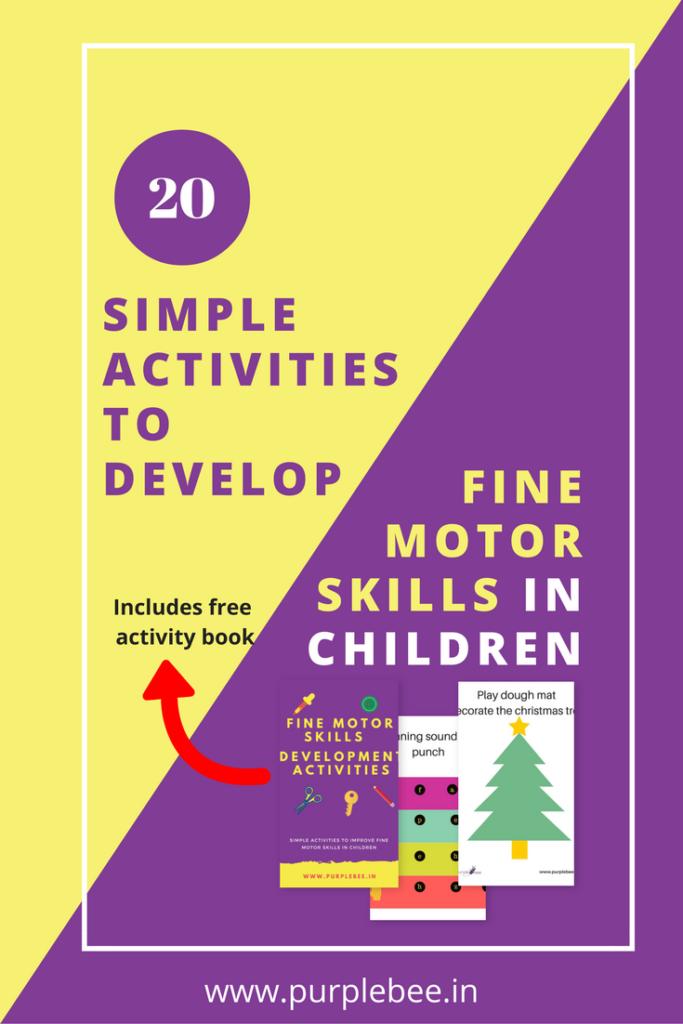20 simple activities to develop fine motor skills in children free activity book purple bee. Black Bedroom Furniture Sets. Home Design Ideas