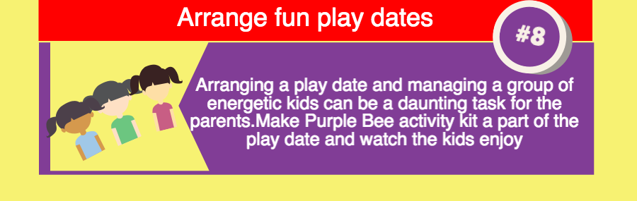 Purple Bee activity kits for play dates
