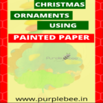Christmas ornaments with painted paper- Great way to recycle kids art work