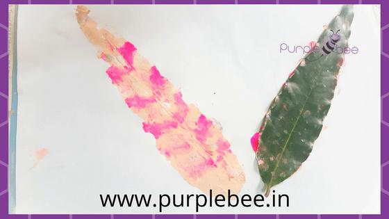leaf print craft for kids