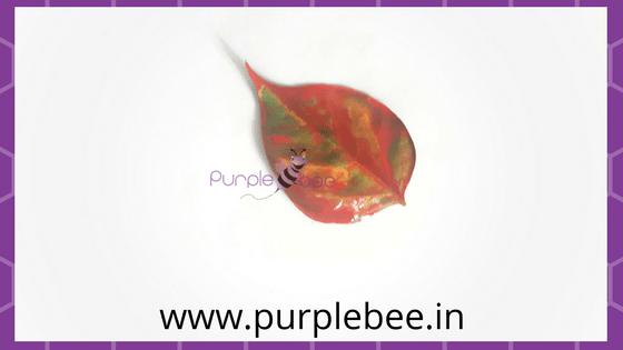 leaf print craft painting the leaves
