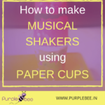 Musical shakers using painted paper cups
