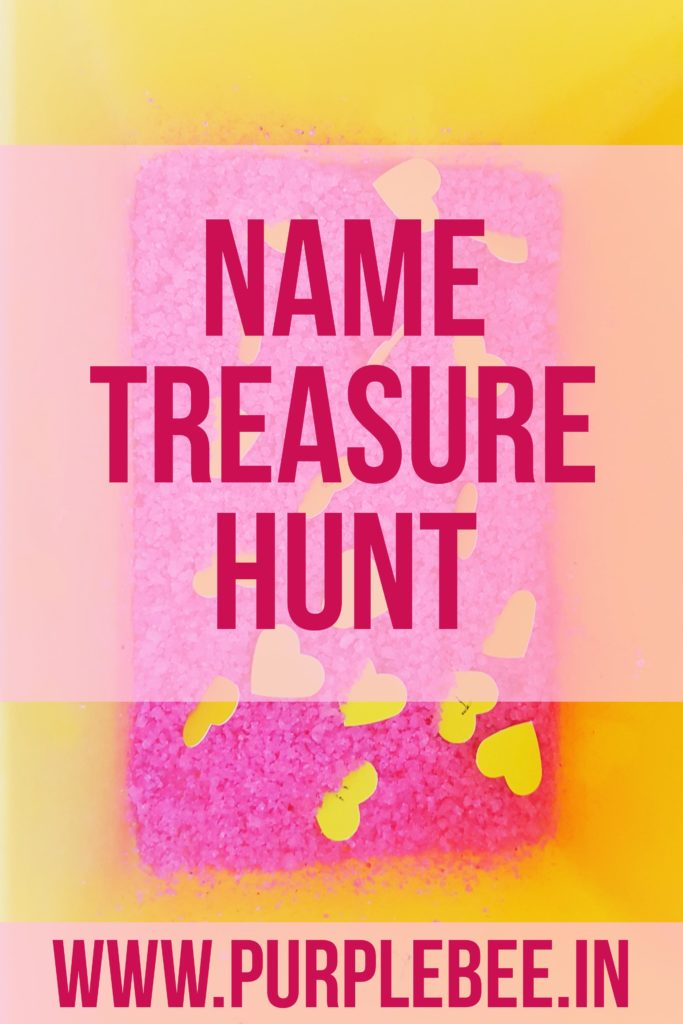 Name activities - treasure hunt