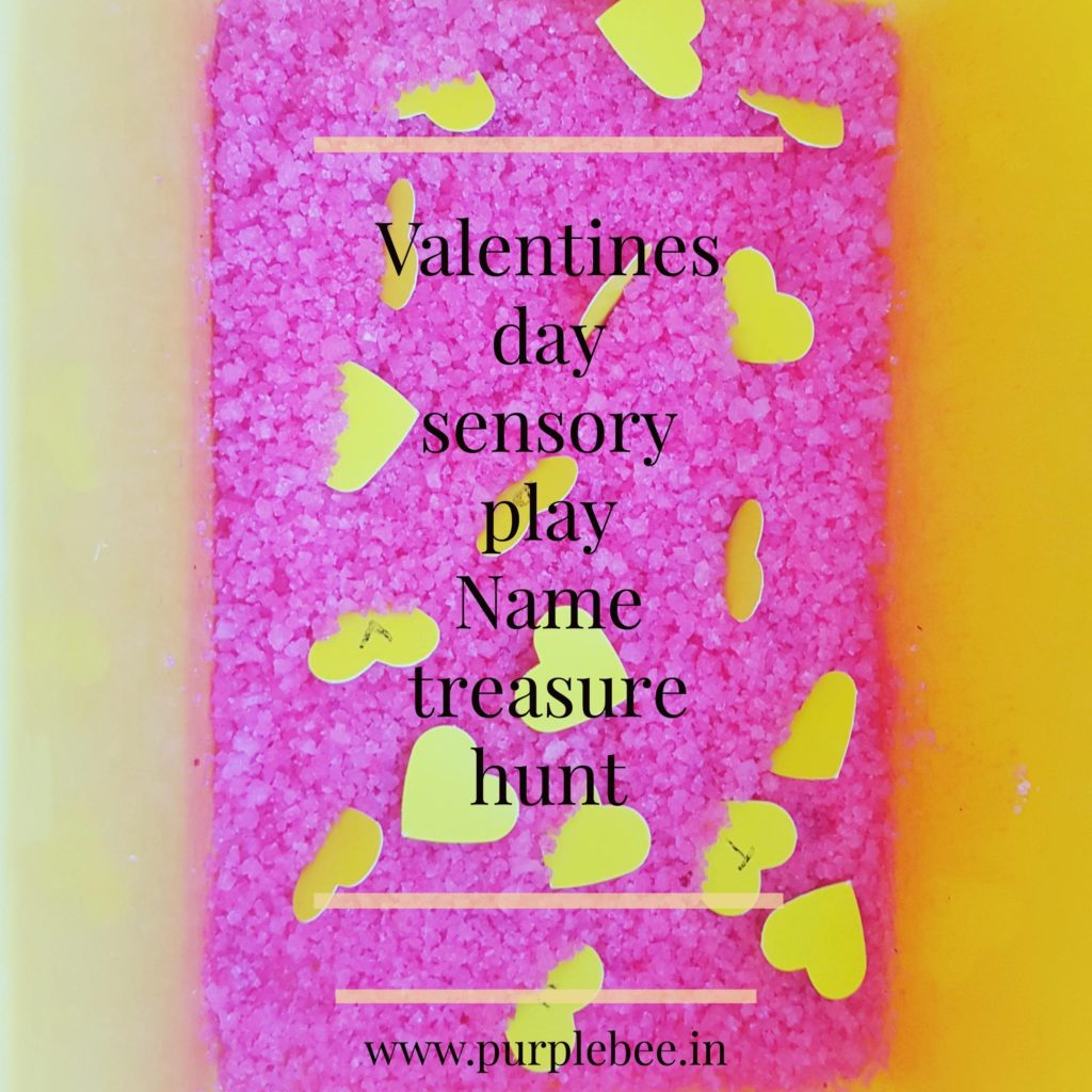 Valentines day – Sensory Play (Name treasure hunt)