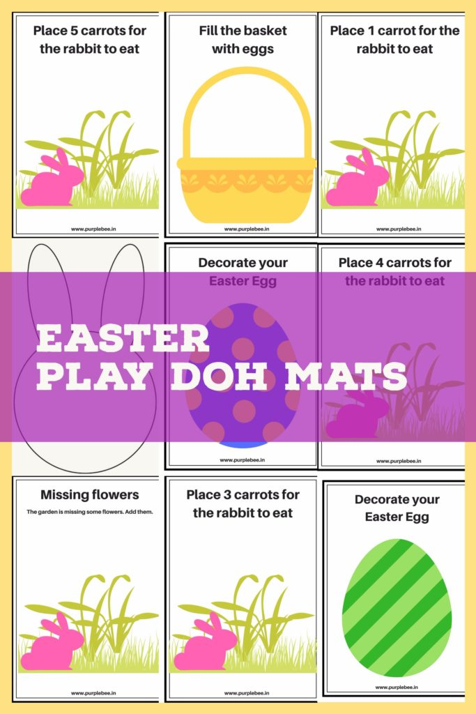 easter play doh mats