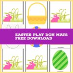 Easter Play doh mats (Free printable)