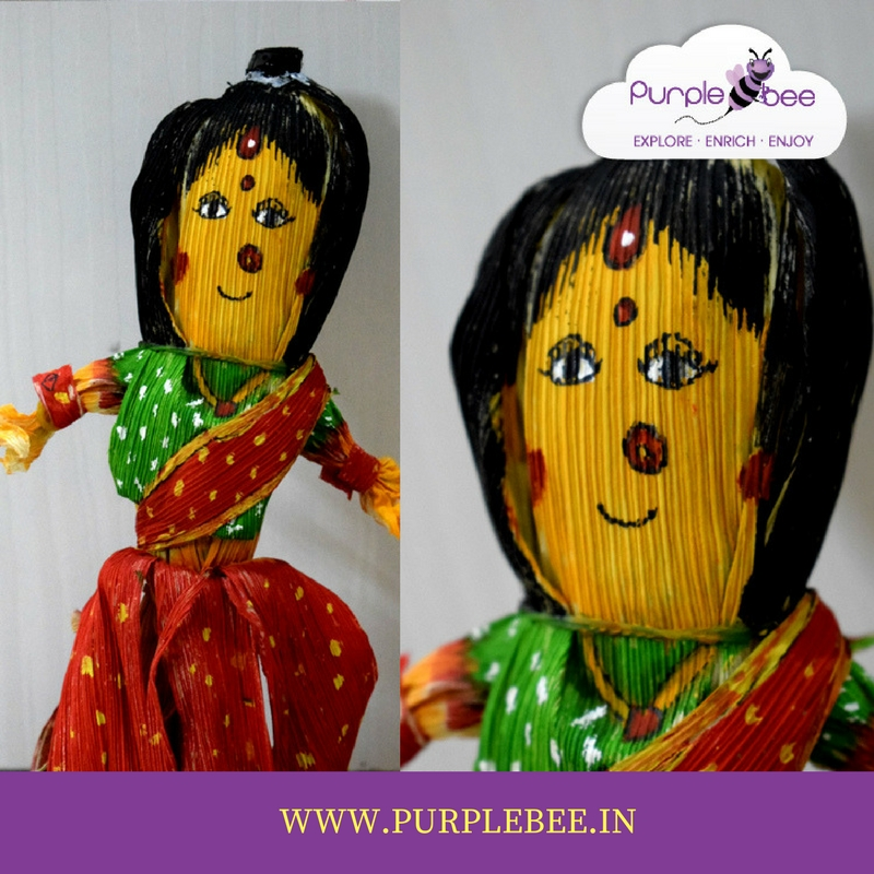 corn husk doll for navratri