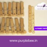 Alphabet matching activity using craft sticks