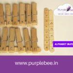 Alphabet matching activity using craft sticks