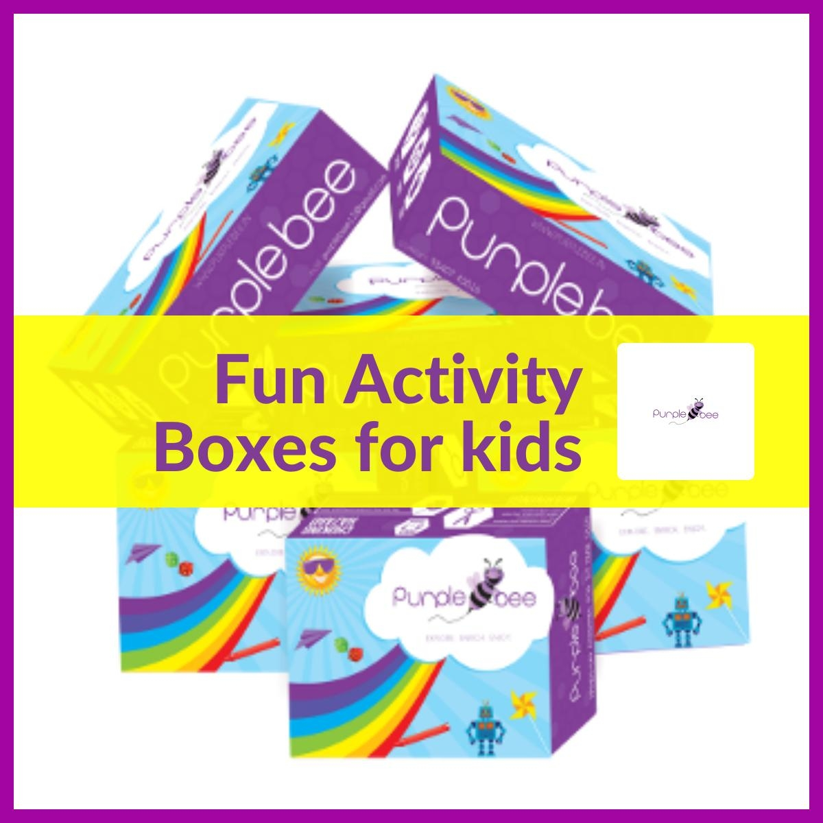 Fun activity boxes for kids