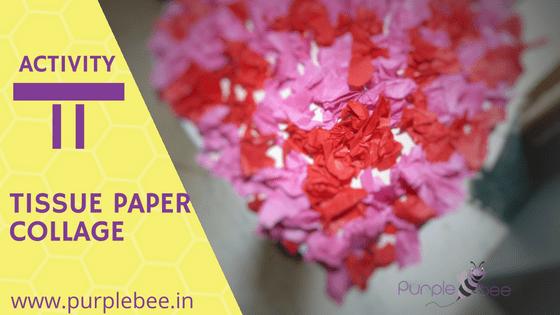 fine motor skills tissue paper collage