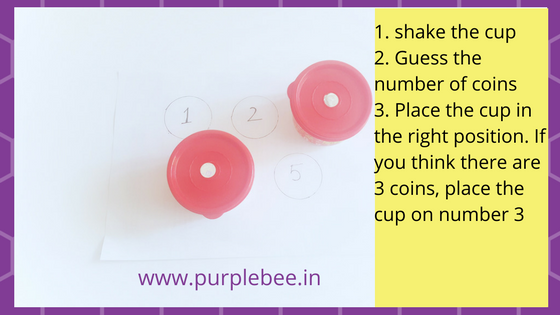 sensory play: find the number of coins