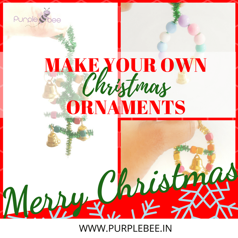Home made Christmas ornaments using pipe cleaners