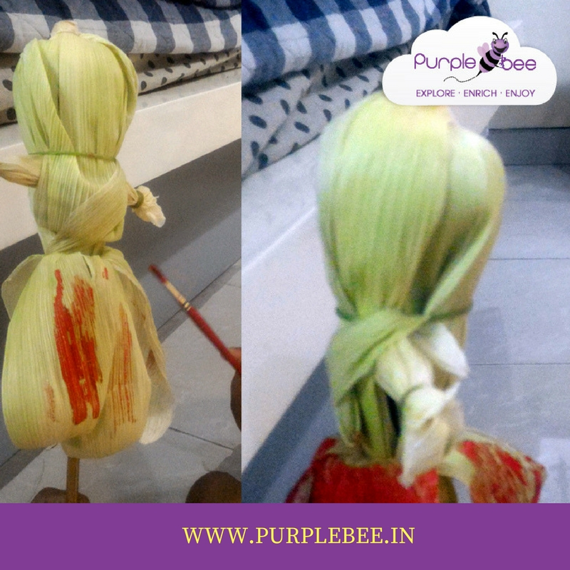 corn husk doll for navratri golu