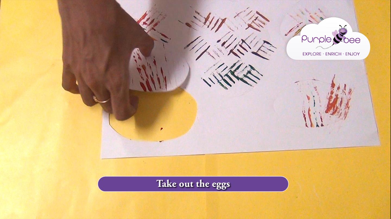 Easter egg fork painting
