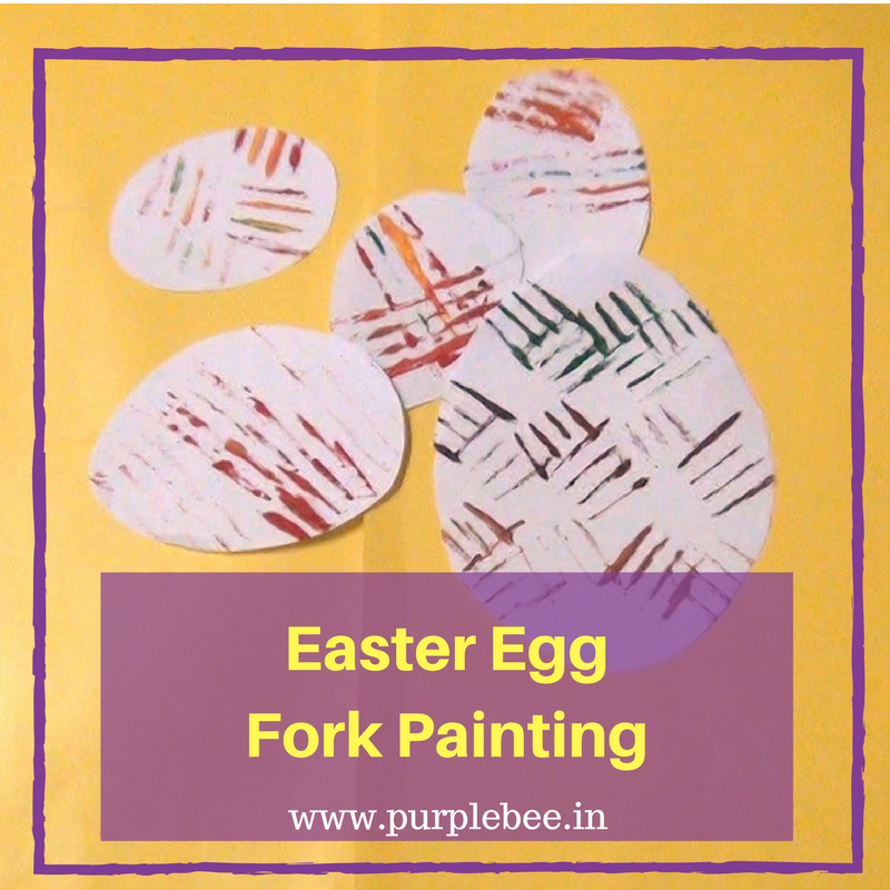 Easter egg fork paintinting