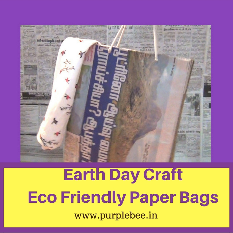 Earth Day Kids Activity – Eco Friendly Newspaper Bag